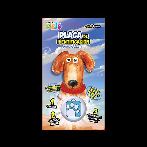 Placa para mascota huellita cuadrada